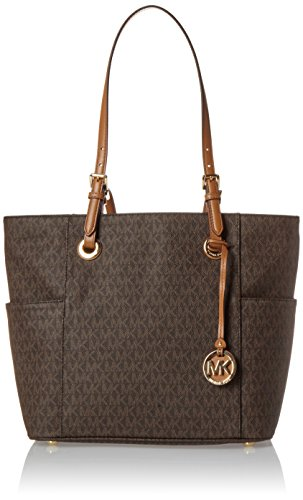 Read more about the article Michael Kors Women's Jet Set Item Ew Signature Tote, Brown