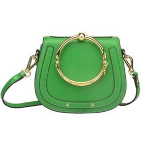 Read more about the article Ainifeel Women's Leather Handbags with Bracelet Handle On Bamboo Green(Leather+Suede)