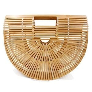 Read more about the article Women's Bamboo Handbag Handmade Sea Large Bamboo Tote Bag Clutch Summer Straw Beach Bag Bamboo Purse