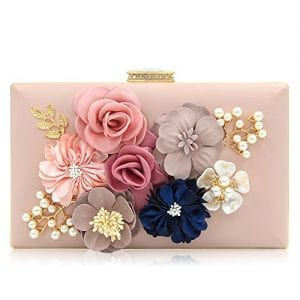 Read more about the article Milisente Women Flower Clutches Evening Bags Handbags Wedding Clutch Purse (Light Pink)