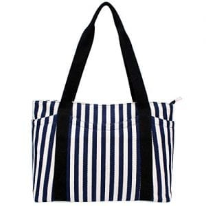 Read more about the article Canvas Tote Bag with Multiple Pocket/Zipper Closure Sholuder Bag/Travel Bag for Weekend/7 Pocket/Perfect Bag for Gift
