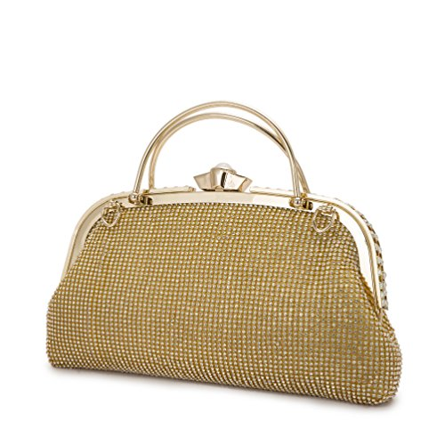 Read more about the article XINDI Woman fashion Evening Handbags Metal ladies Large capacity Gold clutches handbags