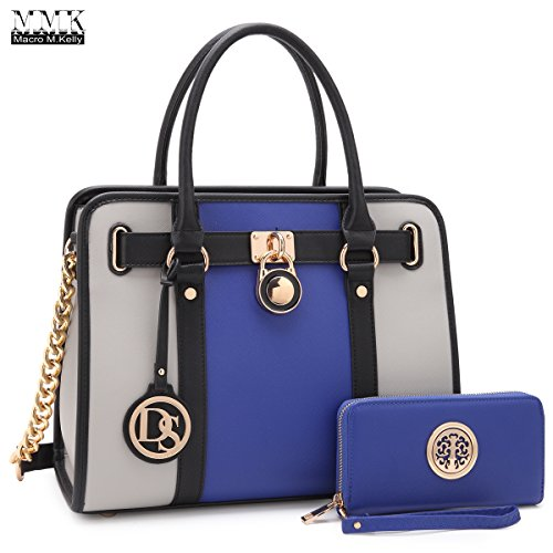 Read more about the article MMK collection Fashion Handbag with coin purse(XL-11) Classic Women Purse Handbag for Women` Signature fashion Designer Purse ~ Perfect Women Satchel Purse (XL-02-7103W-BL/GY)