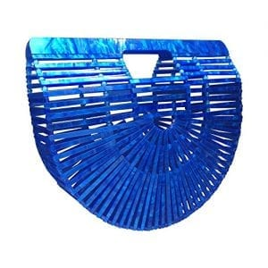 Read more about the article Beauty Womens Ark Bamboo/Acrylic Clutch Handbag Large Tote Bag Beach Bag (Acrylic Blue)