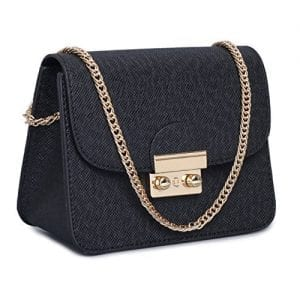 Read more about the article Leather Small Cross Body Purse Crossbody Bag Black Red Evening Party Wedding Clutches Shoulder Bag (Black)