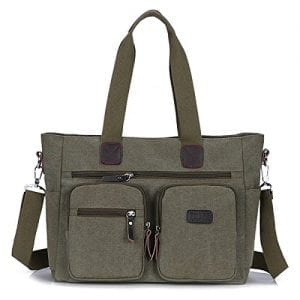 Read more about the article ToLFE Women Top Handle Satchel Handbags Shoulder Bag Messenger Tote Bag Purse Crossbody Bag (Double handles with 9.8″ drop, New-Army Green1)