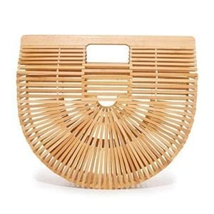 Womens Bamboo Handbag Summer Beach Bamboo Handbag Bag (small)