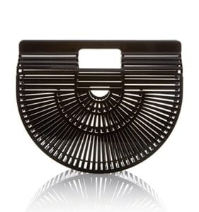 Read more about the article CW Crescent-Shaped Luxury Casual Timeless Bamboo handmade Clutch Tote Handbag (Black-Medium)