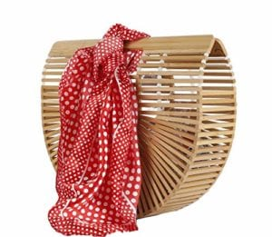 Read more about the article Bamboo Handbag Handmade Tote Bamboo Purse Straw Beach Bag for Women (B1Bead)
