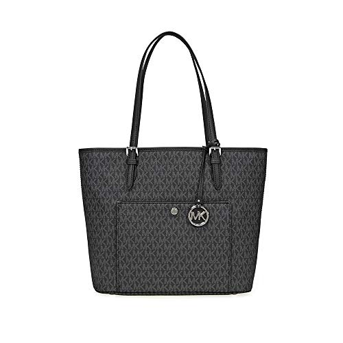 Read more about the article Michael Kors Jet Set Signature Tote – Black