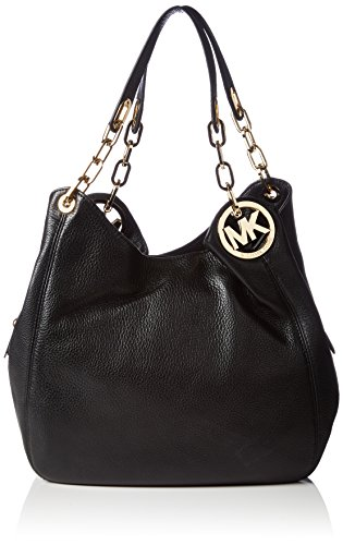 Read more about the article Michael Kors Women's Fulton Large Leather Shoulder Bag, Black, OS
