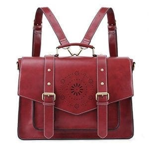 Read more about the article ECOSUSI Women's Briefcase Messenger Laptop Bag PU Leather Satchel Work Bags Fits 15.6 inch Laptops, Red