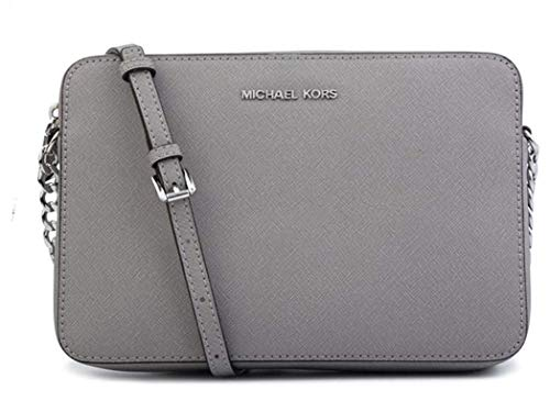 Read more about the article MICHAEL Michael Kors Women's Large East/West Cross Body Bag (Pearl Grey Saffiano)