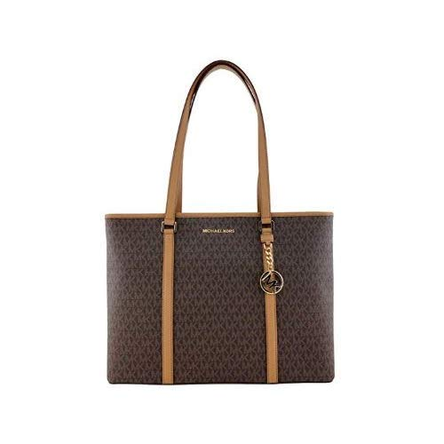 Read more about the article Michael Kors Womens Sady Multifunction Top Zip Tote Bag Brown L