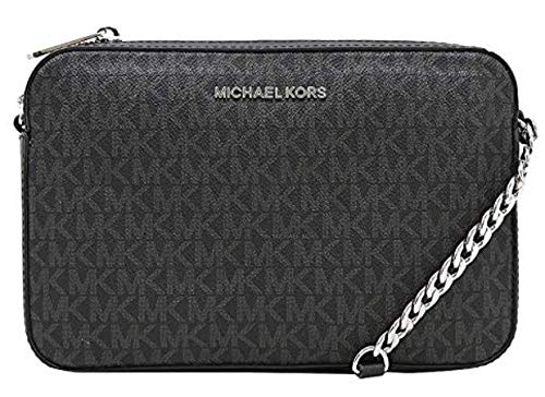 Read more about the article Michael Kors Jet Set Item Large East West Cross-body (Black PVC/Silver Hardware)