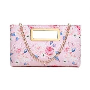 Read more about the article Aitbags Clutch Purse for Women Evening Party Tote with Shoulder Chain Strap Lady Handbag Pink
