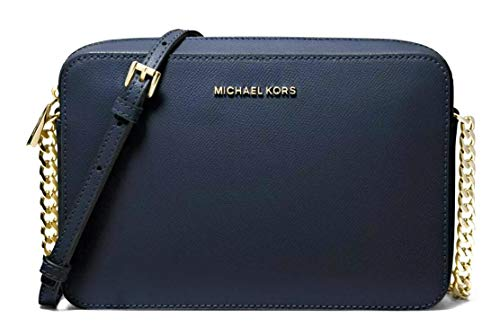 Read more about the article MICHAEL Michael Kors Women's Large East/West Cross Body Bag (Navy/Gold)