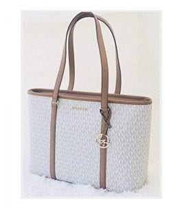 Read more about the article Michael Kors Sady Large Multifunction Zip Tote Bag (Vanilla Acorn)
