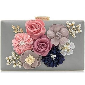 Read more about the article Milisente Evening Bag Clutches purse for Women, Floral Clutch Evening Shoulder Bags, Wedding Crossbody Handbags (Gray)