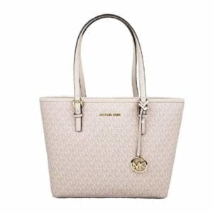 Read more about the article MICHAEL Michael Kors Jet set travel medium MD carryall tote bag signature PVC ballet pink