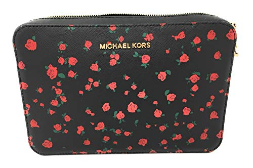 Read more about the article MICHAEL Michael Kors Women's Large East/West Cross Body Bag (Black/Roses)