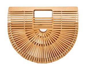 Read more about the article Bamboo Handbag Tote Purse Straw Beach Bag for Women Small