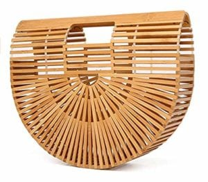 Read more about the article Summer Bamboo Beach Bag Wooden Handmade Tote Womens Straw Tote Bag Womens Basket Bag Large Tote Bag Beach Bag for Women