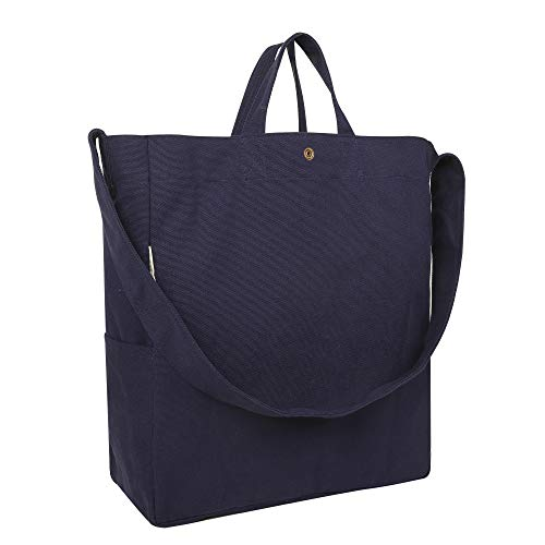 Read more about the article Apackr Canvas Tote Shoulder Bag Crossbody Casual Daypack Handbag for Travel, Shopping and Daily Use (Navy)