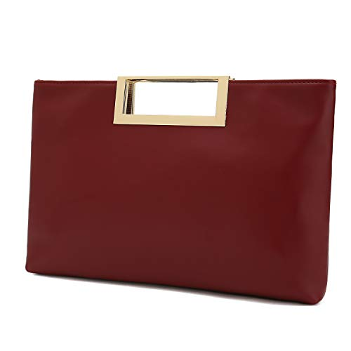 Read more about the article Charming Tailor Fashion PU Leather Handbag Stylish Women Convertible Clutch Purse (Burgundy)