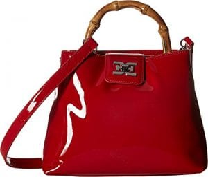 Read more about the article Sam Edelman lois Mini Bamboo top Handle, red patent