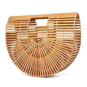 Read more about the article jocabo Bamboo Handbag Womens Tote Straw Purse Beach Bag Handmade for Summer Holiday Vacation, Brown, Large