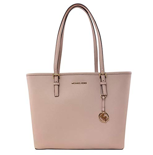 MICHAEL Michael Kors Jet Set Travel Medium Carryall Tote Saffiano Leather – Ballet