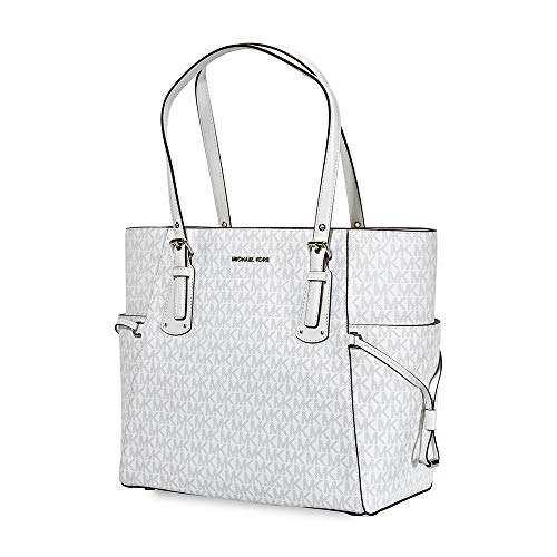 MICHAEL Michael Kors Mercer Leather Crossbody (One Size, Signature Bright White)