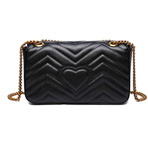 Read more about the article Quilted Purse Gold Metal Letters Shoulder Bag Leather Crossbody Lattice Handbag for Women &Girls Fashion (Large Black)