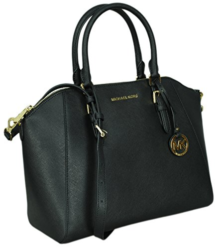 Michael Kors Women's Ciara – Large Top Zip Satchel No Size (Black)