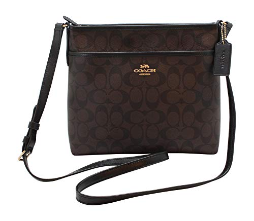 Read more about the article Coach FILE CROSSBODY IN SIGNATURE CANVAS, Im/Brown/Black, One Size