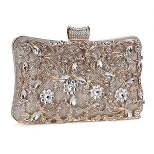 Read more about the article Tanpell Womens Crystal Evening Clutch Bag Wedding Purse Bridal Prom Handbag Party Bag Champagne