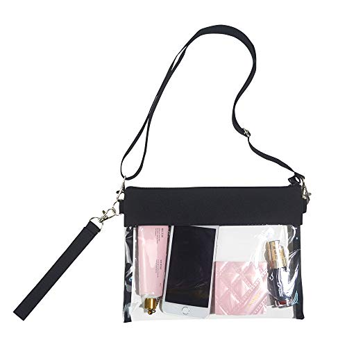 Magicbags Clear Crossbody Purse Bag – NFL,NCAA & PGA Stadium Approved Clear Shoulder Tote Bag with Adjustable Shoulder Strap and Wrist Strap for Work, School, Sports Games