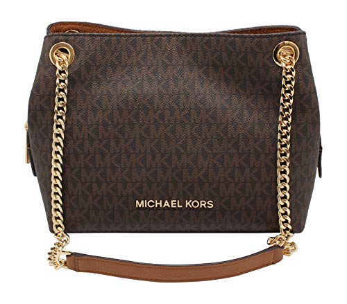 Michael Kors Medium Chain Messenger Signature Bag Brown Acorn