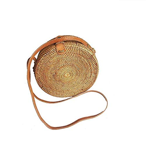 Read more about the article Rattan Nation – Handwoven Round Rattan Bag (Plain Weave Leather Closure), Straw Bag