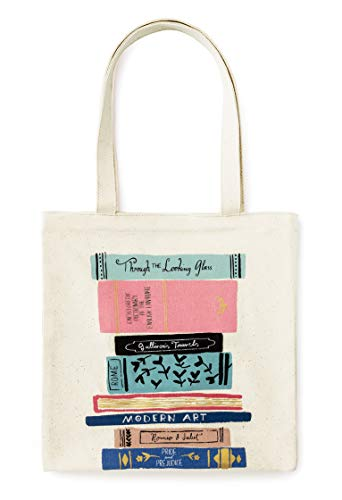 Read more about the article Kate Spade New York Canvas Book Tote with Interior Pocket, Stack of Classics