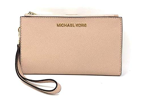Read more about the article Michael Kors Jet Set Travel Double Zip Saffiano Leather Wristlet Wallet in Ballet