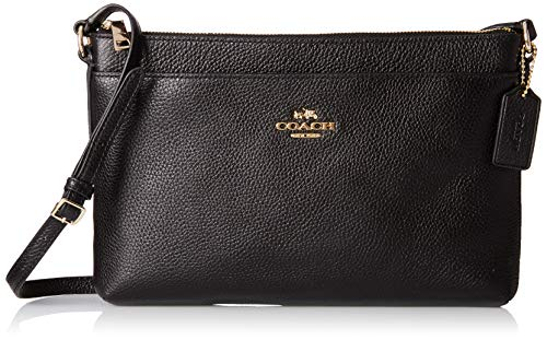 Read more about the article COACH Women's Polished Pebble Journal Crossbody Li/Black One Size