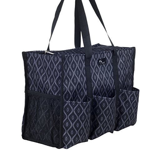 Read more about the article Pursetti Zip-Top Organizing Utility Tote Bag with Multiple Exterior & Interior Pockets for Working Women, Nurses, Teachers and Soccer Moms (Black Trellis)