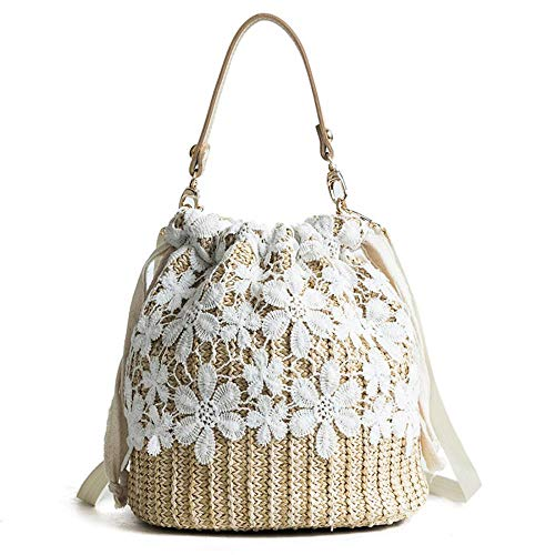 Read more about the article Bamboo Handbag, Beach Purse Bag Half Moon Bag, Straw Lace Woven Travel Sling Bag Shoulder Crossbody Bag for Women