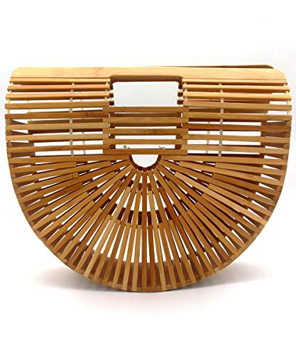 Read more about the article Bamboo Bags for Women, Womens Bamboo Handbag Handmade Large Tote Bag Bamboo Wooden Basket Natural Bags Purse for Summer Beach Sea Vacation Ladies Women B51819 (L, Bamboo)