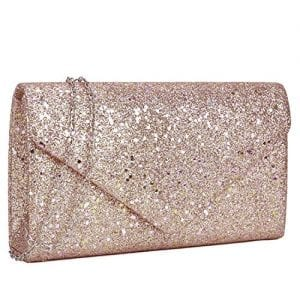 Read more about the article Women Glistening Evening Clutch Bags Formal Party Clutches Wedding Purses Cocktail Prom Clutches Champagne Silver Hardware