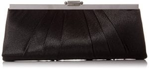 Read more about the article Jessica McClintock Blaire Womens Satin Frame Evening Clutch Bag Purse With Shoulder Chain Included, Black