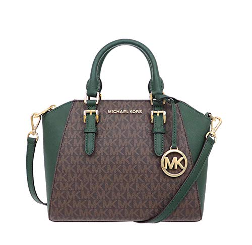 Michael Kors Ciara Medium Messenger Crossbody Bag Purse Handbag (Racing Green)