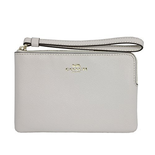 You are currently viewing Coach Crossgrain Leather Corner Zip Wristlet